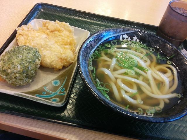はなまる 岡山新保店 かけ小+びっくりとり天+10品野菜の豆腐天
