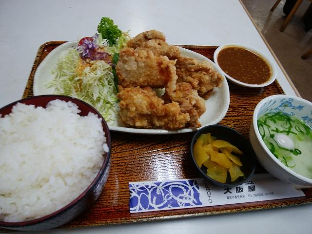 大阪屋食堂 唐揚げ定食