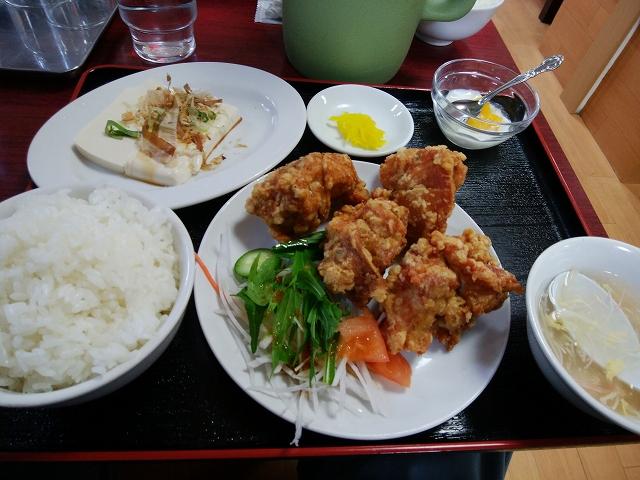 台湾料理 鑫源 (きんげん) 玉島店 唐揚げ定食