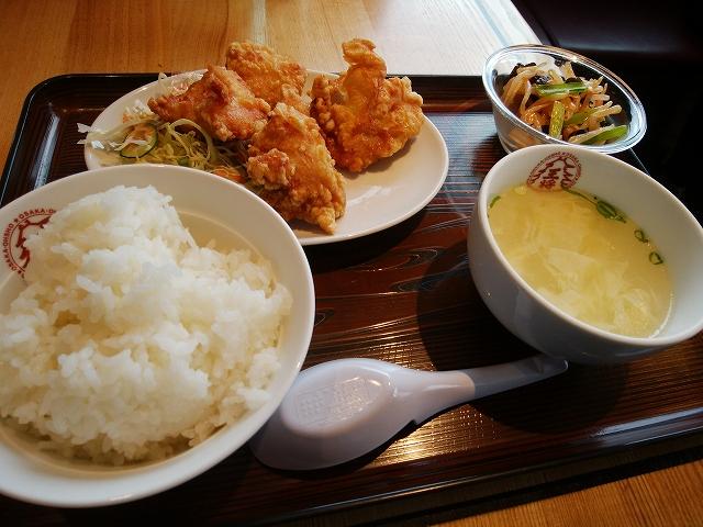 大阪王将 早島インター店 唐揚げ定食